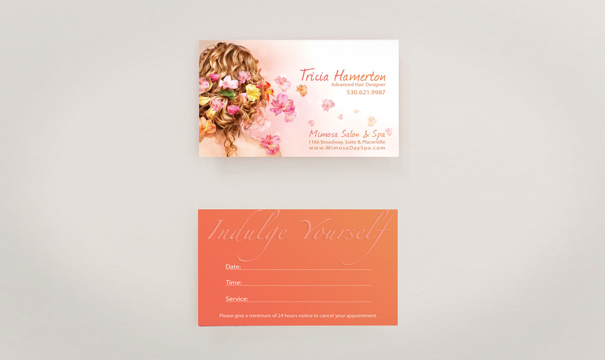 Tricia Hamerton Business Card Design